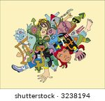 the stylized vector image of a... | Shutterstock .eps vector #3238194