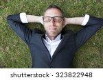 caucasian modern businessman... | Shutterstock . vector #323822948