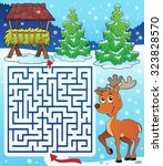 maze 3 with hay rack and... | Shutterstock .eps vector #323828570