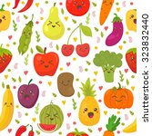 seamless pattern with fresh... | Shutterstock .eps vector #323832440