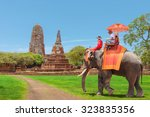 Tourists On An Ride Elephant...