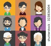 set of people icons in flat... | Shutterstock .eps vector #323836004