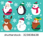 Christmas Flat Characters Set....