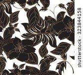 seamless flower background  ... | Shutterstock .eps vector #323844158
