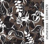 seamless flower background  ... | Shutterstock .eps vector #323844170