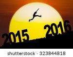 New Year Concept  Silhouette O...