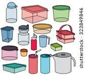 vector set of plastic container | Shutterstock .eps vector #323849846