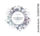 floral wedding invitation.... | Shutterstock .eps vector #323850788