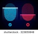electronic fingerprint scan....   Shutterstock .eps vector #323850848