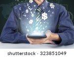 image of businessman hand... | Shutterstock . vector #323851049