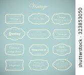 vector of vintage frame set on... | Shutterstock .eps vector #323853050