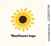 logo sunflower yellow flower... | Shutterstock .eps vector #323853749