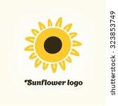 logo sunflower yellow flower... | Shutterstock .eps vector #323853749