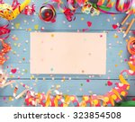 decorative party frame of... | Shutterstock . vector #323854508