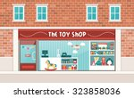 toy shop display and interior... | Shutterstock .eps vector #323858036