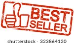 red grunge stamp with frame ... | Shutterstock .eps vector #323864120