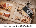 photo album with photos of... | Shutterstock . vector #323864696