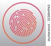 fingerprint | Shutterstock .eps vector #323864963