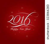 happy new year greetings with... | Shutterstock .eps vector #323866283