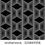 design seamless monochrome... | Shutterstock .eps vector #323869358