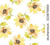 seamless flowers pattern.... | Shutterstock . vector #323870003