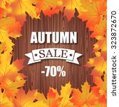 autumn sale  70  discount... | Shutterstock .eps vector #323872670
