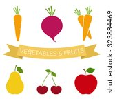 set of vegetables and fruits... | Shutterstock .eps vector #323884469