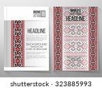business vector templates ... | Shutterstock .eps vector #323885993
