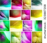 set of beautiful blurred... | Shutterstock .eps vector #323887208