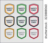 safety first icon in shape of... | Shutterstock .eps vector #323888060