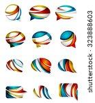 set of abstract speech bubble... | Shutterstock . vector #323888603
