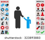 father with son vector icon.... | Shutterstock .eps vector #323893883