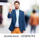 happy businessman number four   Shutterstock . vector #323896793