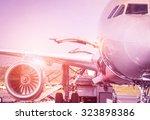 Detail Of Airplane At Terminal...