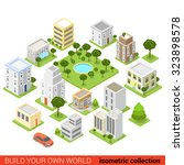 flat 3d isometric city building ... | Shutterstock .eps vector #323898578