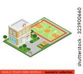 flat 3d isometric creative... | Shutterstock .eps vector #323900660