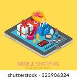 flat 3d isometric creative... | Shutterstock .eps vector #323906324
