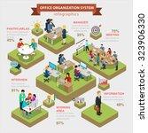 office organization system... | Shutterstock .eps vector #323906330