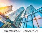 bottom view of modern... | Shutterstock . vector #323907464