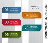 vector modern 5 options... | Shutterstock .eps vector #323912003