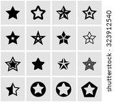 vector black stars icon set.   Shutterstock .eps vector #323912540