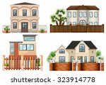 different sytle of houses... | Shutterstock .eps vector #323914778