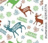 merry christmas. christmas deer.... | Shutterstock .eps vector #323915774
