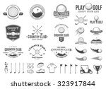 set of golf country club logo... | Shutterstock .eps vector #323917844
