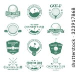 set of golf country club logo... | Shutterstock .eps vector #323917868