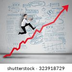 red arrow report growth... | Shutterstock . vector #323918729