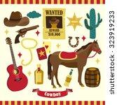 cowboy vector design...   Shutterstock .eps vector #323919233