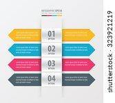 arrow gold gradient banner... | Shutterstock .eps vector #323921219