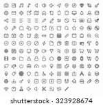 outline vector icons for web... | Shutterstock .eps vector #323928674