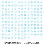 outline vector icons for web... | Shutterstock .eps vector #323928686